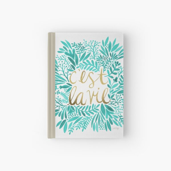 That's Life – Turquoise & Gold Hardcover Journal
