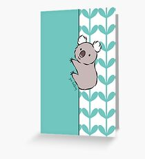 Clinging Koala  Greeting Card