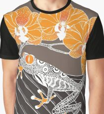 Tree Frog with Orchids in Earth Tones Graphic T-Shirt