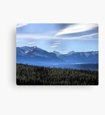 Misty Blue Mountains Canvas Print