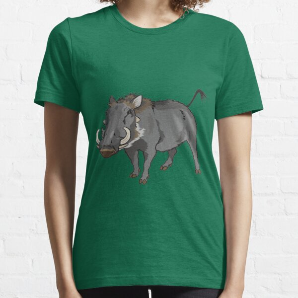 Retro Wild Boar Warthog Design Essential T-Shirt