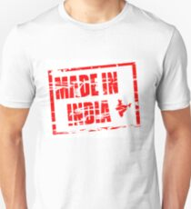 Made in India red rubber stamp effect Unisex T-Shirt