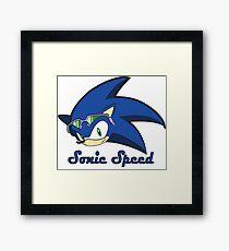 Sonic Speed Framed Print