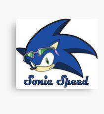 Sonic Speed Canvas Print