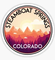 STEAMBOAT SPRINGS COLORADO SKI BIKE HIKE MOUNTAINS Sticker