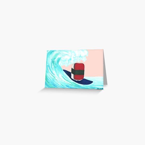 Surfer Spam musubi Greeting Card