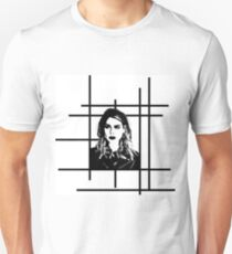 High Contrast Billie Piper with Background Design T-Shirt
