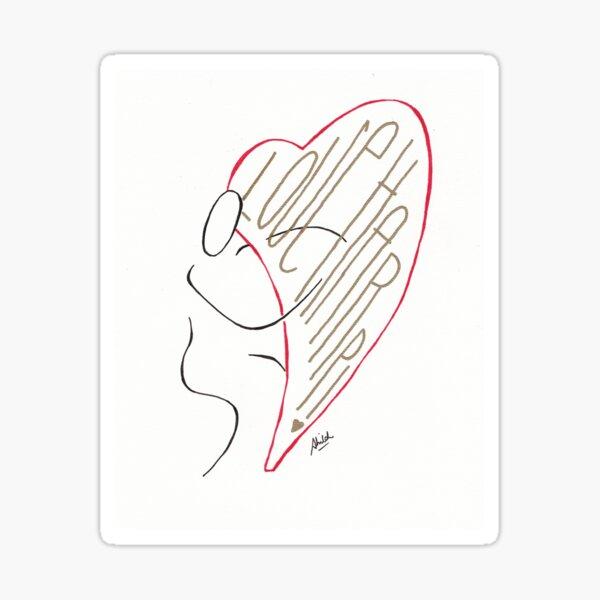 Love Harp! Sticker