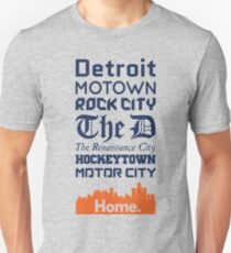 Detroit Is My Home - Tigers Edition T-Shirt