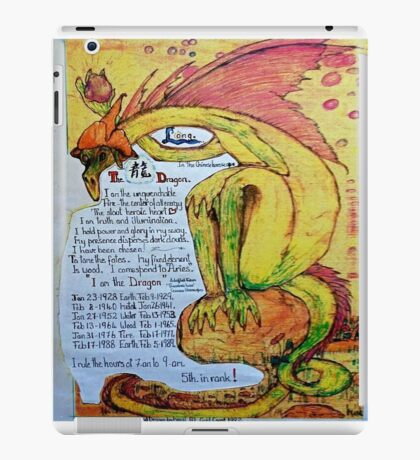The Dragon. ;-  Chinese Horoscopes, Your Year. iPad Case/Skin