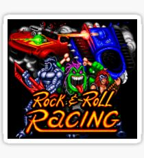 Rock n' Roll Racing (SNES Title Screen) Sticker