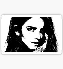 High Contrast Emma Watson Sticker