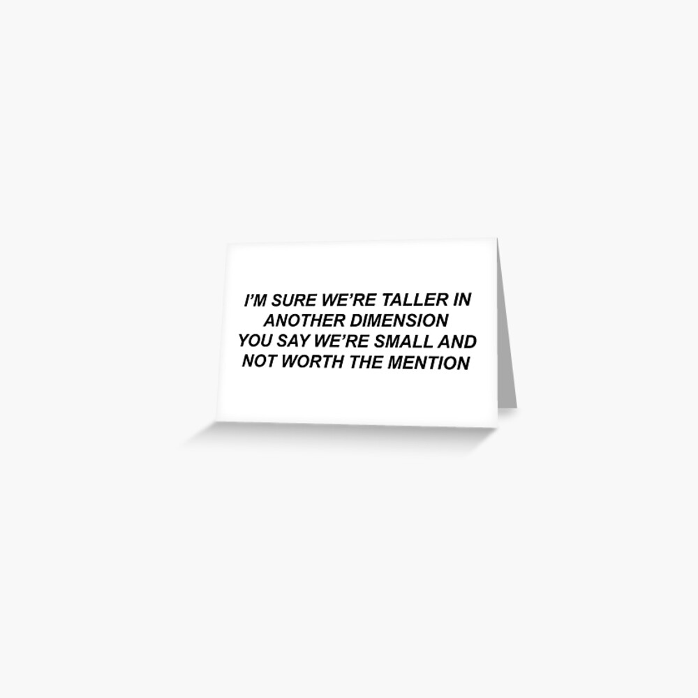 White Ferrari Lyrics Greeting Card By Boysdontcry011 Redbubble
