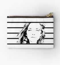 High Contrast Natalie Dormer with Background Design Studio Pouch