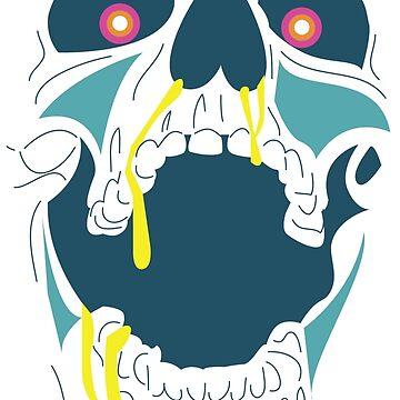 Screaming Skull by kzenabi