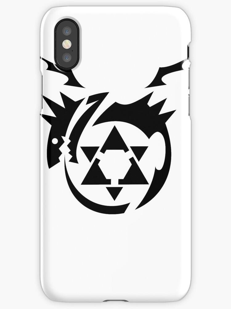 Black Homunculus Symbol Fullmetal Alchemist Iphone Cases Covers