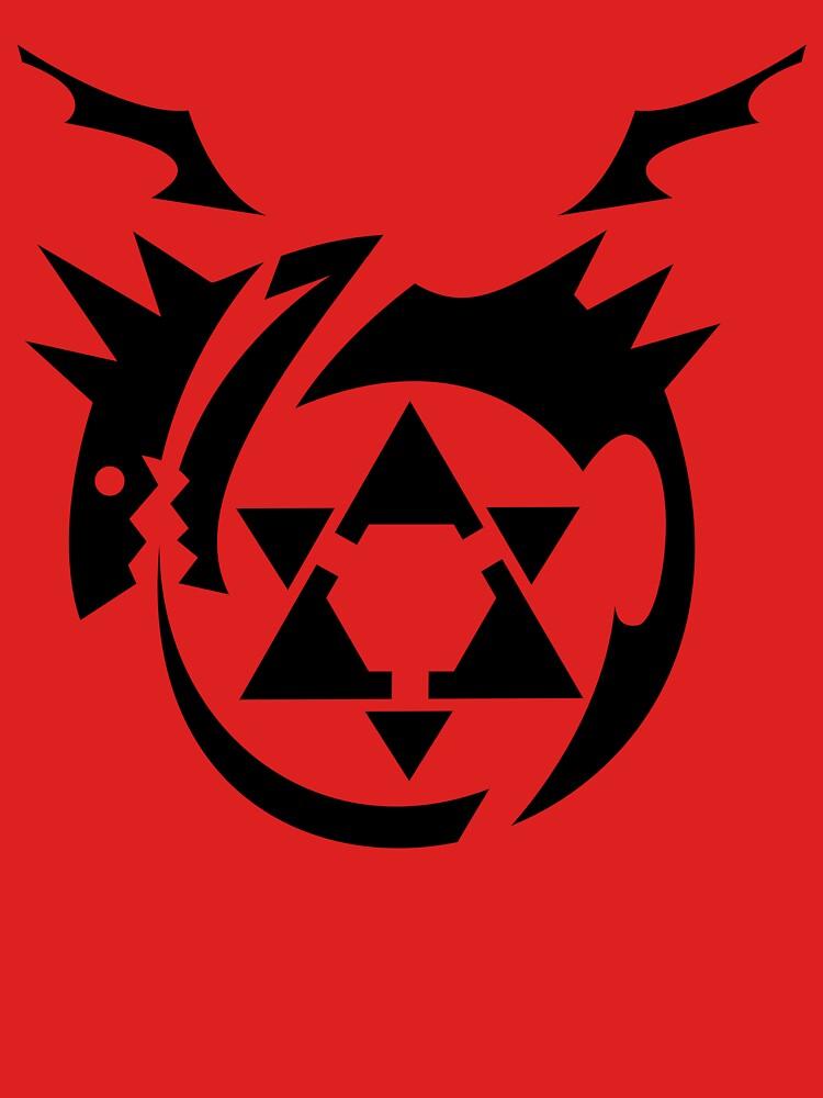 Black Homunculus Symbol Fullmetal Alchemist Unisex T Shirt By