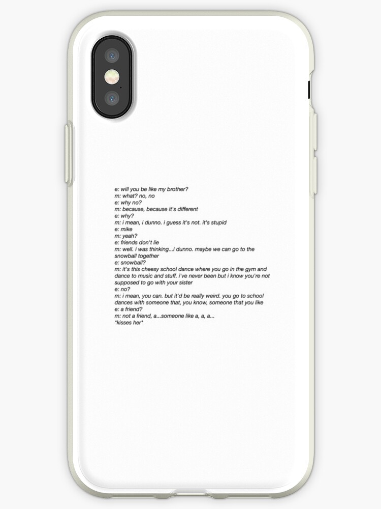 on sale 9cb5c c64a8 'Stranger Things Mike and Eleven' iPhone Case by lilyniamh