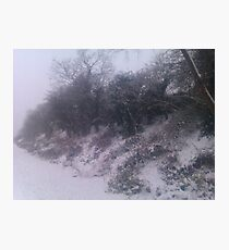 Into The Snowy Countryside Photographic Print