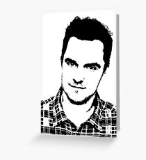 High Contrast Jake Johnson Greeting Card
