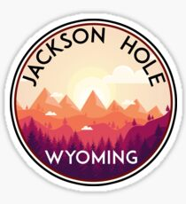 JACKSON HOLE WYOMING Mountain Skiing Ski Snowboard Snowboarding 10 Sticker