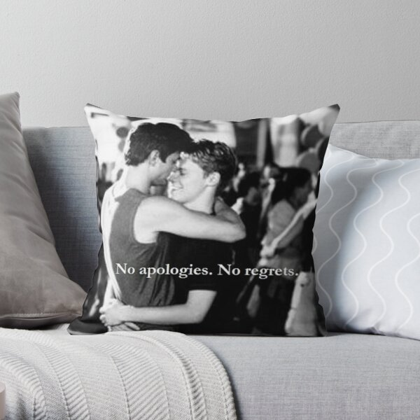 No apologies. No regrets. Throw Pillow