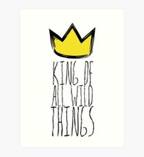 Where the Wild Things Are - King of All Wild Things 1 Cutout  Art Print