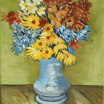 Vase with Daisies and Anemones, Van Vogh art reproduction by naturematters