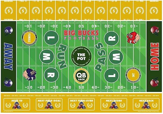 Big Bucks Football - Green & Yellow by bigbuck