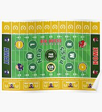 Big Bucks Football - Green & Yellow Poster