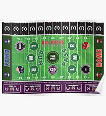 Big Bucks Football - Purple & Black Poster
