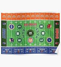 Big Bucks Football - Blue & Orange Poster