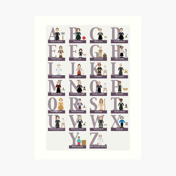 Awesome Females Alphabet Art Print