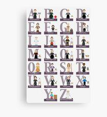 Lienzo Impresionante alfabeto de las hembras
