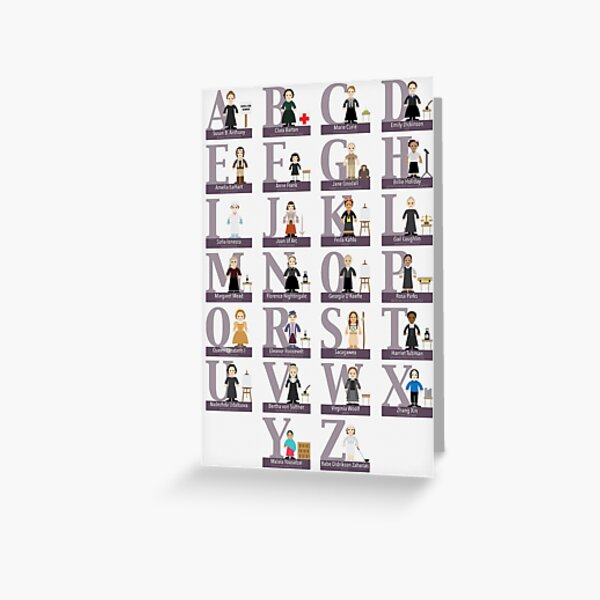 Awesome Females Alphabet Greeting Card