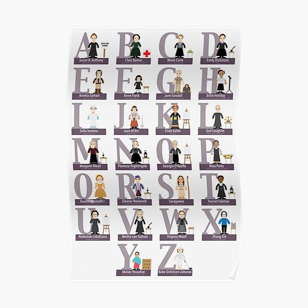 Awesome Females Alphabet Poster