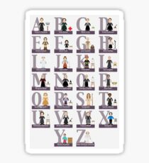 Awesome Females Alphabet Sticker