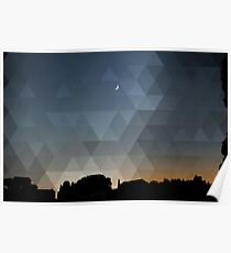 Triangle Dusk Poster