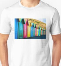 Colorful beach huts Unisex T-Shirt