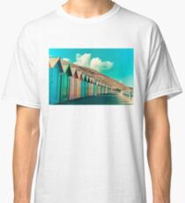 Colorful beach huts Classic T-Shirt