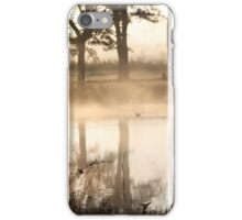 PEA SOUP FOG AT THE POND iPhone Case/Skin