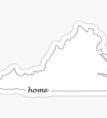 Virginia is my Home Sticker
