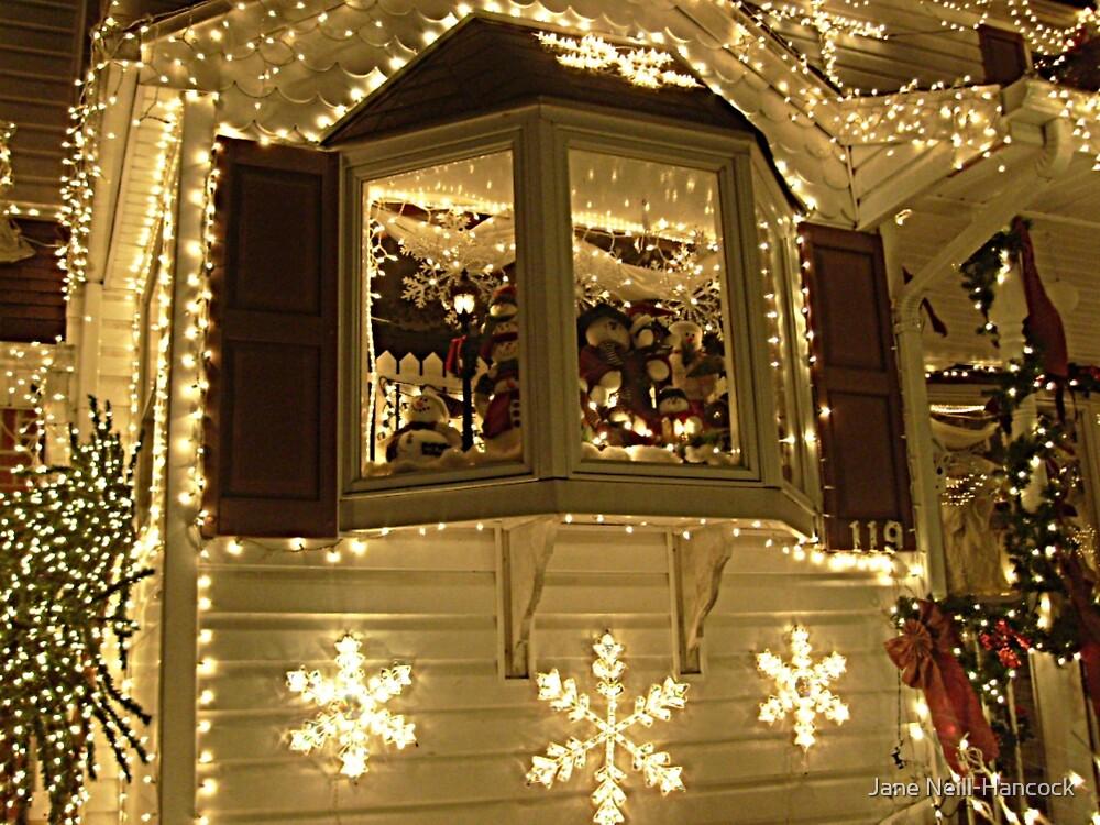 Bay Window Display, Santa's house, Little Falls NJ by Jane Neill-Hancock