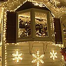 Bay Window Display, Santa's house, Little Falls NJ by Jane Neill-Hancock