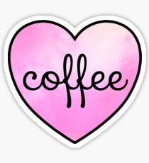 coffee heart Sticker