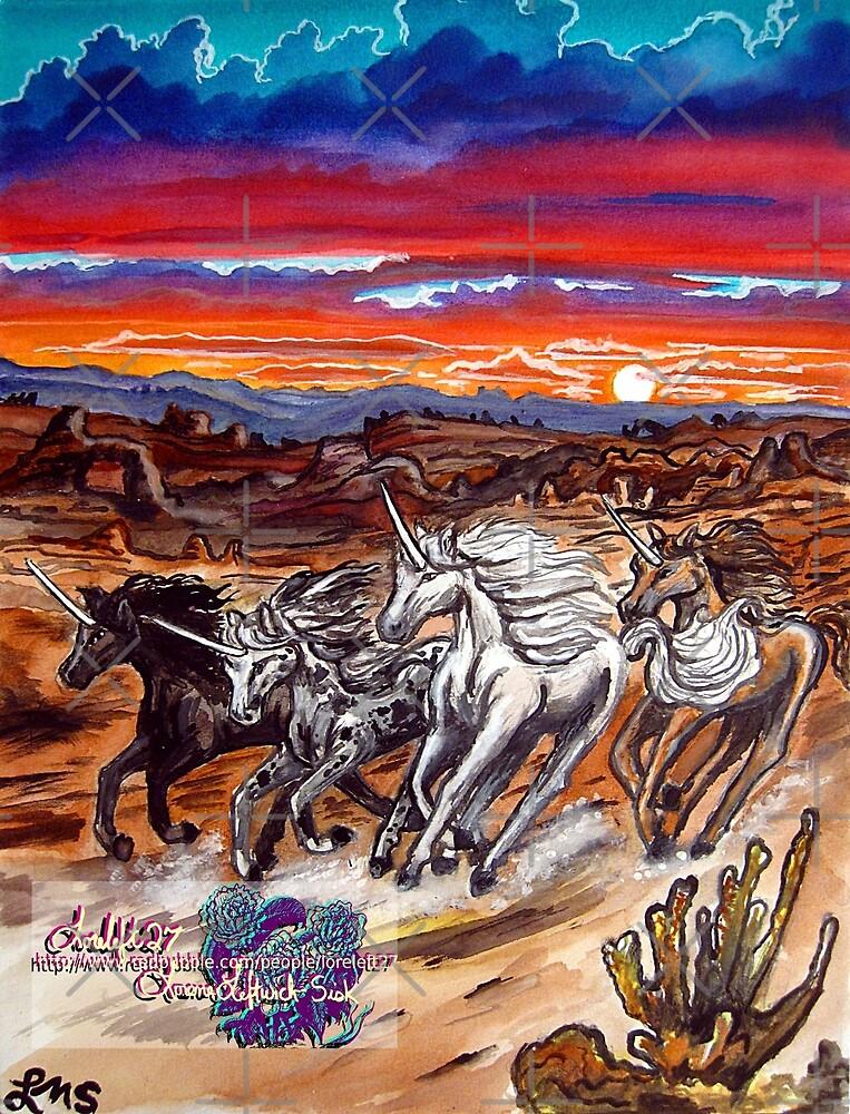the unicorns of voran's canyon by LoreLeft27