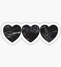 black marble hearts Sticker