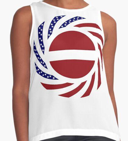 Latvian American Multinational Patriot Flag Series Sleeveless Top