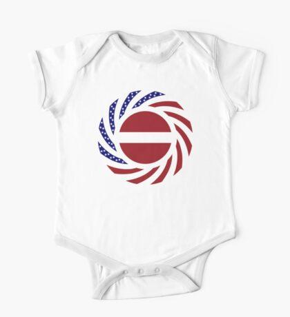 Latvian American Multinational Patriot Flag Series Kids Clothes