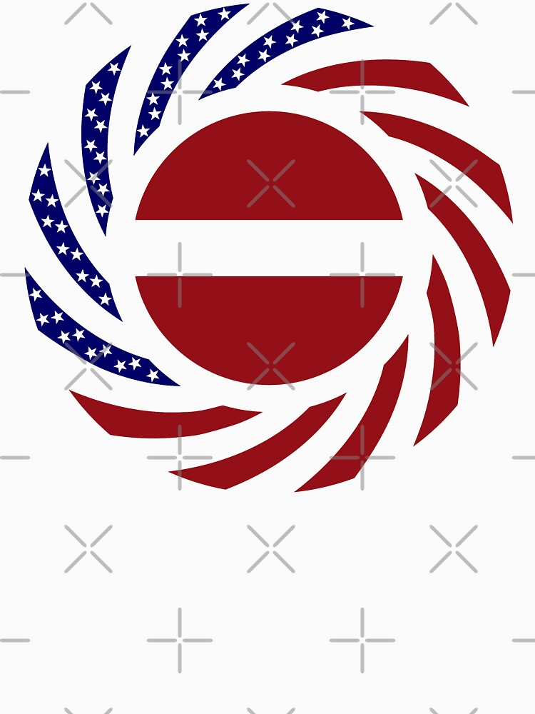 Latvian American Multinational Patriot Flag Series by carbonfibreme